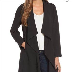 Halogen drape black jacket